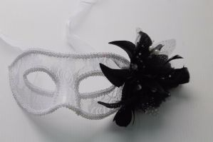 White Lace Masquerade Mask - Lace Mask | Masks and Tiaras